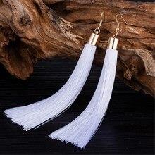 EK2048 Ethnic Boho Long Tassel Dangle Earrings Women Fashion Brand Jewelry European Exaggerated Drop Earrings Vintage Pendientes
