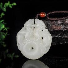 New Fashion White Jades Pendant Handmade Carved Pixiu Lucky Peace Amulet Women Men's Amulet Jewelry Pendants With Free Rope смартфон keneksi amulet white