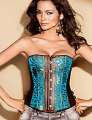 Steampunk New Sexy Boned Corset Faux Leather Corset Overbust Print Sexy Corset For Women