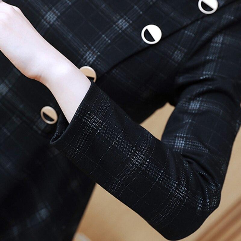 Pantalons Femmes Travail 2 Haut Vêtements Striped Et Tenues Set Élégant Costumes Bureau Pièce Yiciya Ol plaid D'affaires 2019 Rayé ord Ensemble Plaid Co q0wYt0