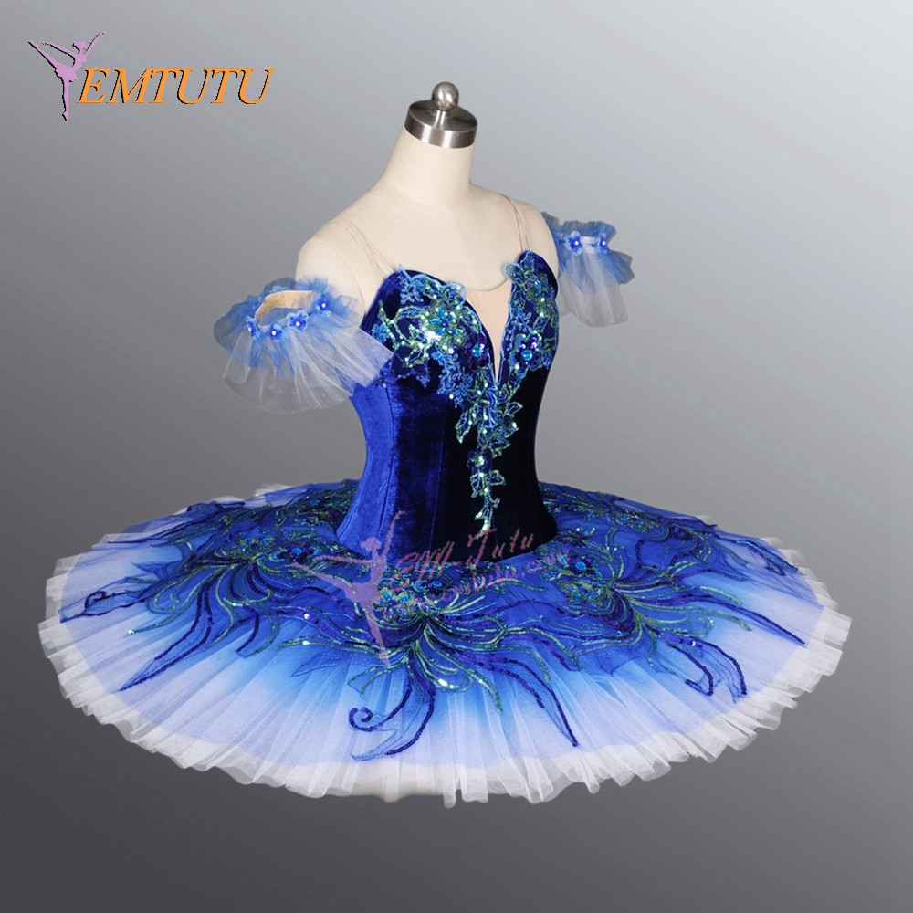blue bird tutu adult girls professional ballet tutus blue classical ballet stage costume for