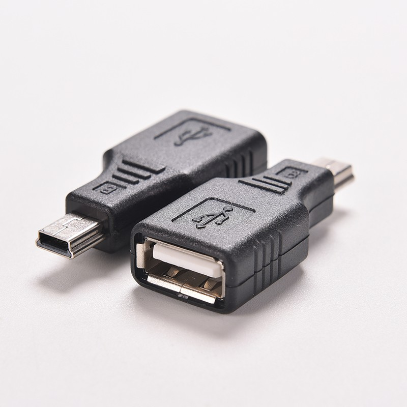 Brand New  USB 2.0 Female To Micro USB B /Mini 5 pin Male Plug OTG Adapter Converter Free Shipping free shipping iec 320 c14 to saa australia 3 pin female power adapter for pdu ups ac plug converter wpt604