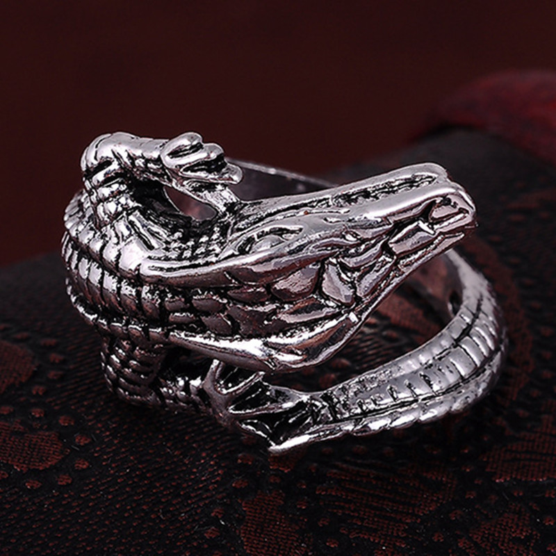 silver ring and product on rings lizard cute in original adjustable luulla unique