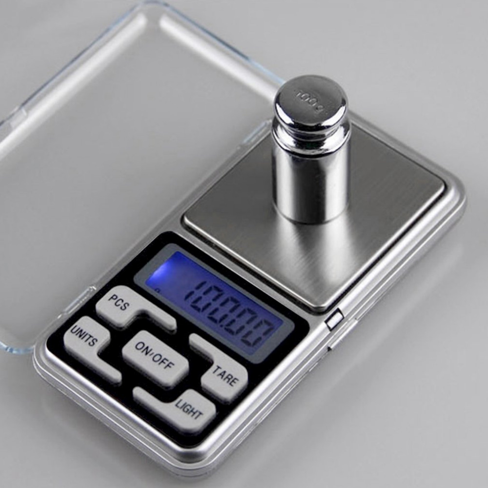 High Precision Mini Portable Jewelry Scale Electronic Mini-g Said Gold Jewelry Scales Kitchen Scale with Back-Lit LCD Display