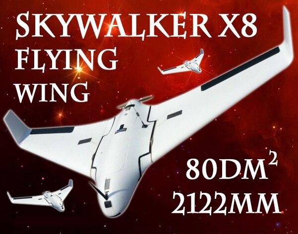 Dernière Version Skywalker blanc X8 avion FPV aile volante 2122mm RC avion nouveauté 2 mètres x-8 EPO grand jouet télécommandé
