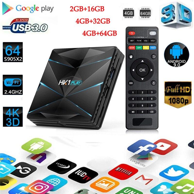 מחשבי וברזי השקיה Android9.0 HK1 MAX 4K HD Smart TV Box 2 / 4GB + 16/32 / 64GB Dual wif 3D Smart Media Player (2)