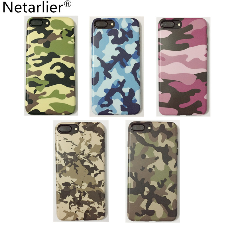 official photos b48f7 4425f US $5.99 |Netarlier High Quality For Iphone 6 6s 6Plus 7 7Plus Protective  TPU Pink Blue Green Army Camo Camouflage Matte Phone Case Cover-in Fitted  ...