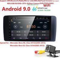 2GB+16GB Quad Core Android 9.0 Car Radio For Mercedes/Benz/GL ML CLASS W164 ML350 ML500 X164 GL320 Canbus 4G Wifi GPS BT Radio