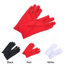 Hot New Non-slip Elastic Etiquette Gloves Women Ladies Bride Wedding Wrist Short Gloves Party Driving Stretch Satin Solid Colors(China)