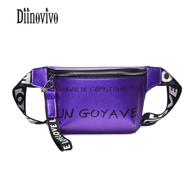 DIINOVIVO Fashion Letter Summer Belt Bags New Arrivals Women Chest Bags 2018 Hot Sale Waist Bags Luxury Brand Fanny Pack DNV0533
