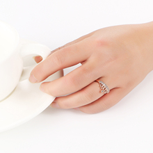 Elegant Cubic Zircon Crystal Crown Ring