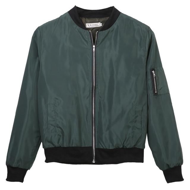 Army Green Black Red Bomber Jacket Women Autumn O-Collar Classic Simple Jacket Veste Femme Manche Longue Korean Cardigan