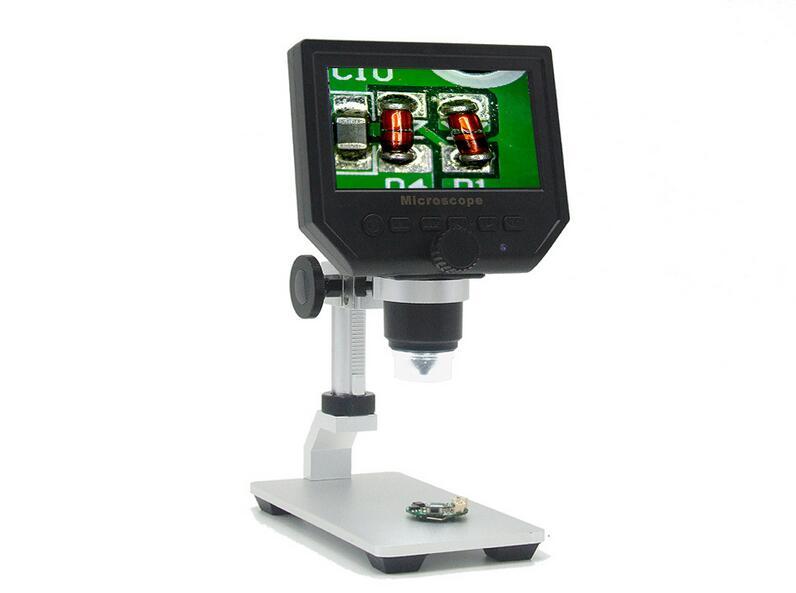 600x3,6 Мп USB Цифровые микроскопы с Алюминий чехол из металлического сплава со 4,3 дюймов HD ЖК-дисплей Дисплей для печатной плате ремонт