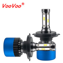 VooVoo S2 Plus LED H4 H1 H3 H7 H11 9004 9005 9006 9007 9012 CSP Car Headlight Bulb 80W 12000LM 6500K Headlamp for Toyota Ford(China)