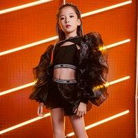 New Kids Jazz Dance Costume Children'S Day Catwalk Show Wear Girls Hip Hop/Street Dance Performance/Practice Costume DQL1629