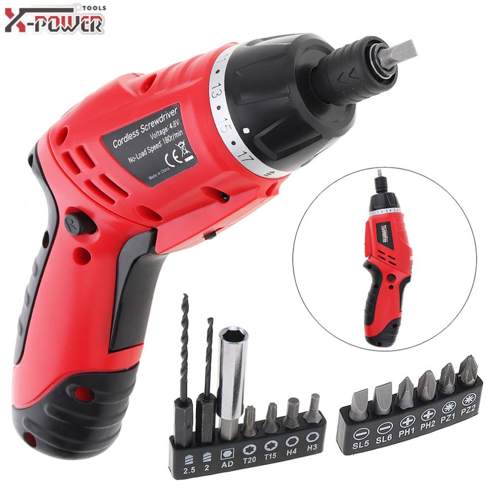 Mini Screwdrivers 100~240V Electric Screwdriver 4.8V Folded Handle Cordless Rechargeable Screw Driver For Home Office