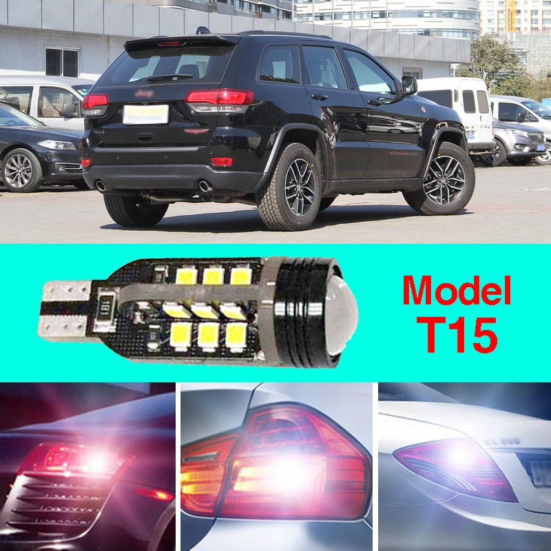 Error Free T15 Socket 360 Degrees Projector Lens LED Backup Reverse light R5 Chips Replacement Bulb For Jeep Grand Cherokee error free t15 socket 360 degrees projector lens led backup reverse light r5 chips replacement bulb for hyundai tucson