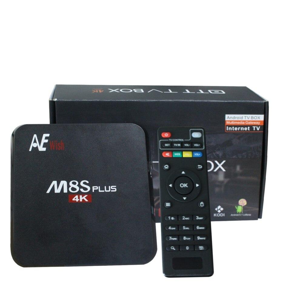 Prix pour ANEWKODI android tv box M8S PLUS m8s + Quad-Core TV Box Amlogic S905 KD 16.0 4 K 2G/16G WIFI Full HD Android 5.1 Médias lecteur