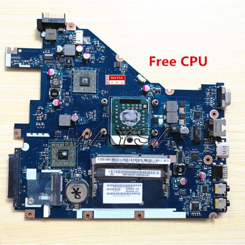 MBR4602001 PEW96 L01 LA-6552P Carte Mère Fit ACER Aspire 5552 5552G NV50A ordinateur portable carte principale 100% Entièrement testé, avec livraison CPU