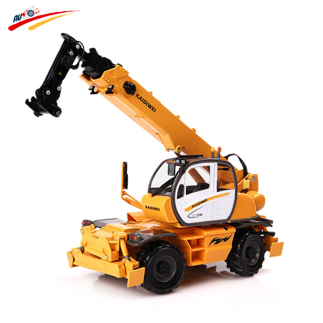 KAIDIWEI  1:50  Alloy Multi-Functional Machine Cranes Car  Diecast Metal Model