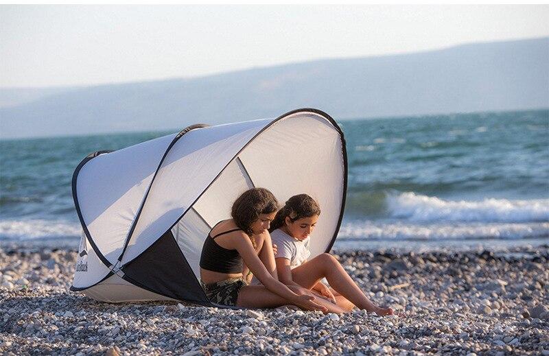 Barraca de praia protetor solar pára-sol automático