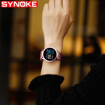 SYNOKE Smart Watch Women Android Waterproof Sports Watches  Digital Stainless Steel Watch Men Womens Wristwatches IOS Watches