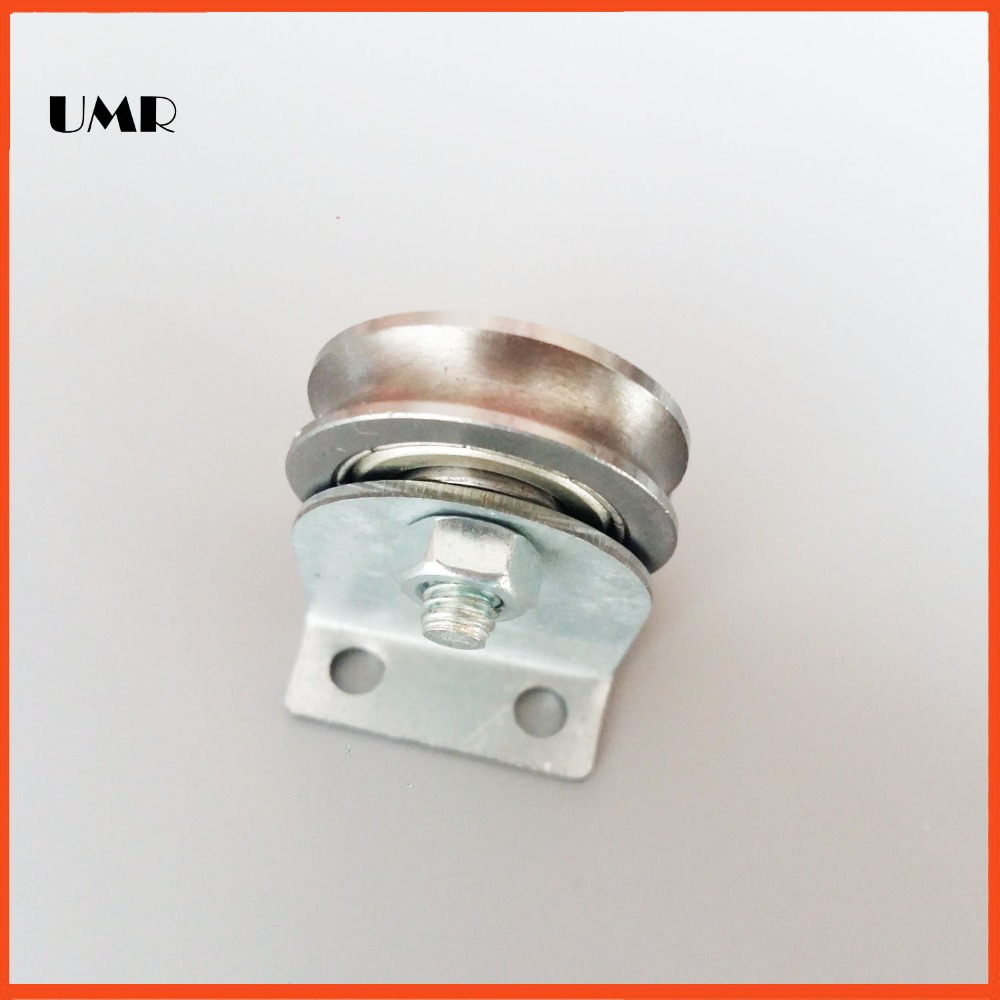 Stainless steel SU0635 bearings with pulley bracket Z5 U/H type Wire rope pulley bearing 6.1*35*7*8.2 chrome oxide plated steel wire guide pulley for wire industry