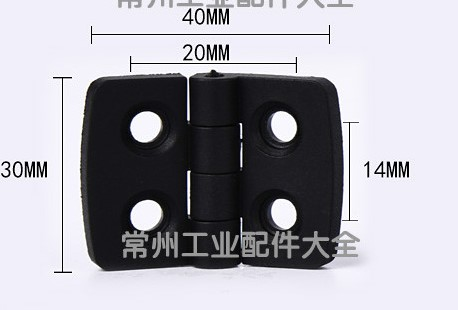 Image 3 - 10pcs/set Black Color Nylon Plastic Butt Hinge for Wooden Box Furniture Electric Cabinet Hardware-in Door Hinges from Home Improvement