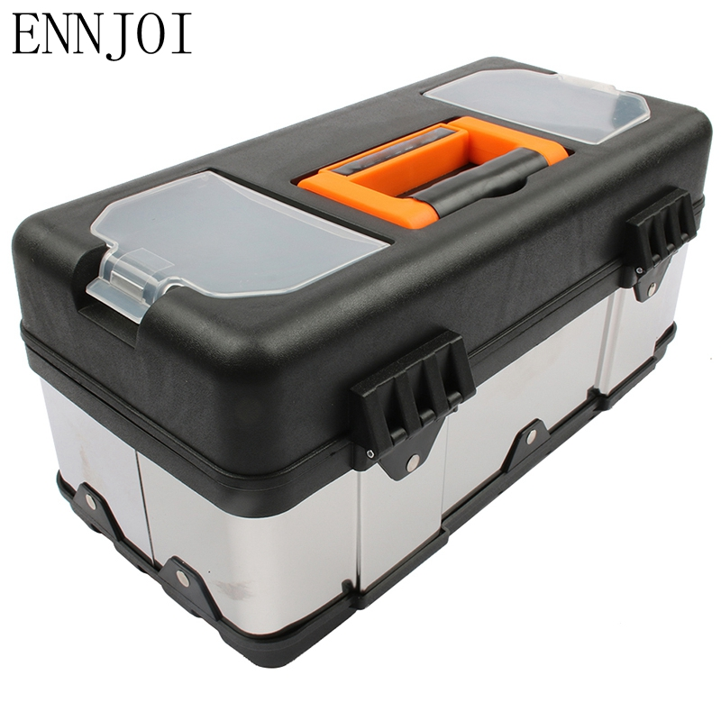 ENNJOI High Qaulity Large Stainless Steel Toolbox Household Maintenance Electrician Tool Box Z0103