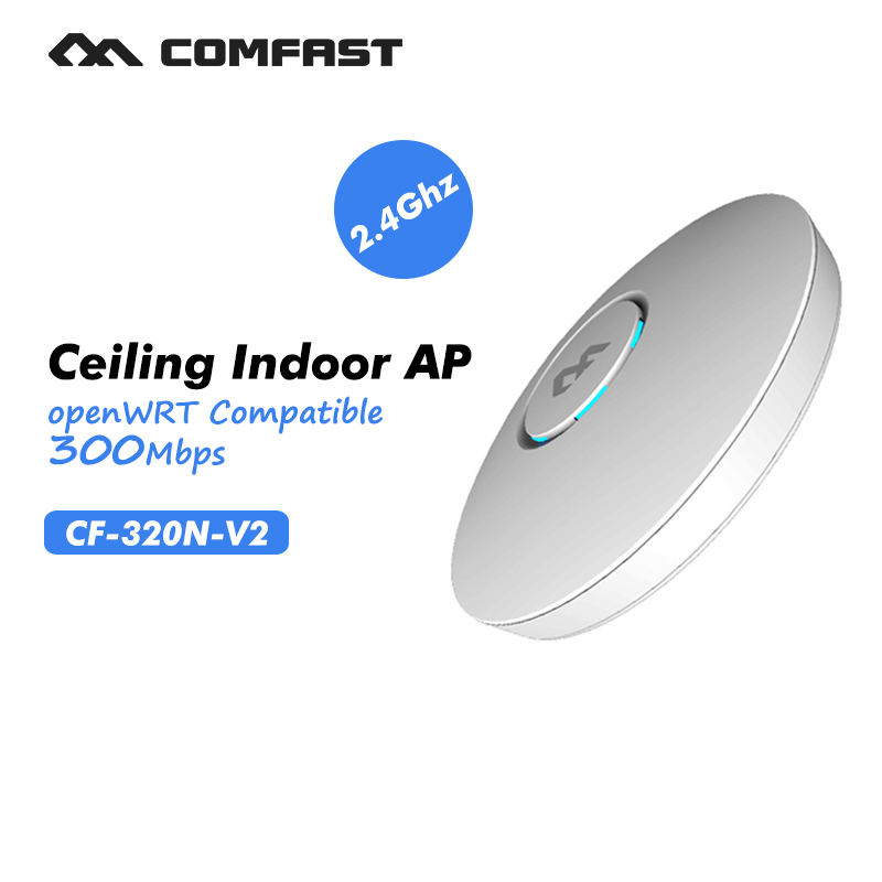 ФОТО wireless indoor wifi router 300Mbps Wireless ceiling AP 2.4Ghz extender business use AP marketing system COMFAST CF-E320N-V2
