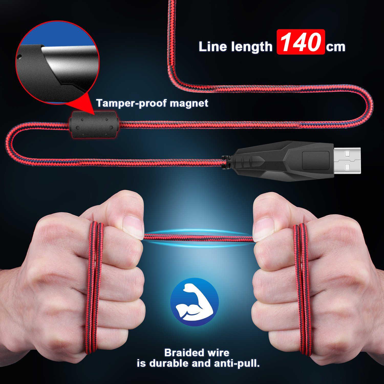 Rocketek USB السلكية المهنية الألعاب ماوس 5500 ديسيبل متوحد الخواص قابل للتعديل 7 لون الخلفية لعبة الفأر لسطح المكتب/كمبيوتر محمول مكتب المنزل