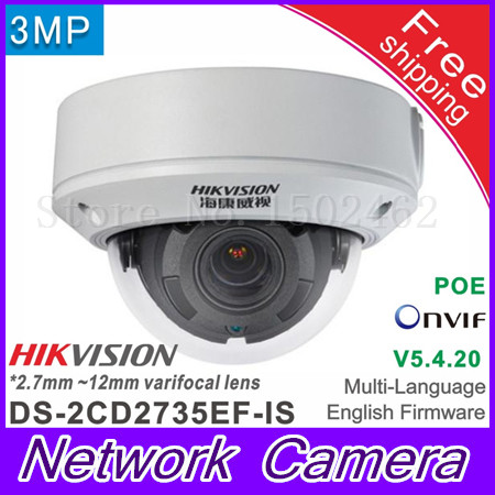 Free sihpping Hikvision DS 2CD2735EF IS Replace of DS 2CD2735F IS 2 7 12mm vari focal