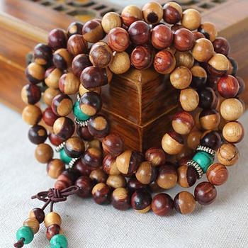 6mm 8mm Natural Authentic Red Sandalwood Beads Loose Mala Beads 108 Beads Meditation Prayer Beads Japa Mala Buddha фото