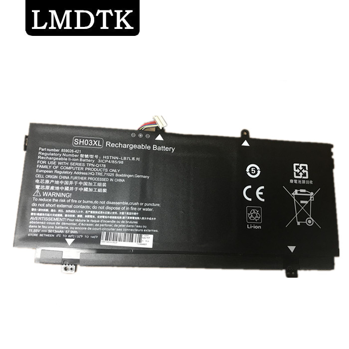 LMDTK NEW SH03XL SH03057XL LAPTOP BATTERY FOR HP Spectre x360 13 AC033DX Convertible PC 13 TPN Q178 859356 855 HSTNN LB7L
