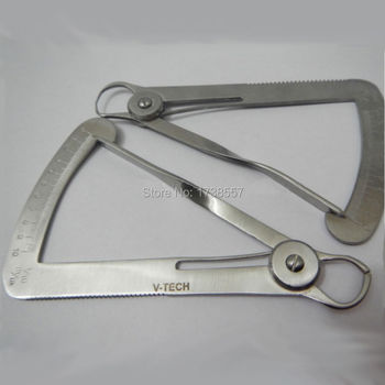 Free Shipping 1 pcs Dental Stainless Steel the Amount of wax caliper dental Gauge Caliper Dental Surgical Dental Ruler