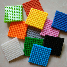 2 pieces/lot New LOZ Block Diamond Building Blocks Baseplate 4cm 10*10 Dots Base Plate 3D Bricks Toys Colors