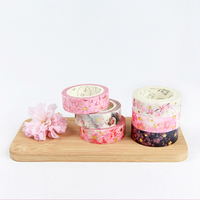 Gold Foil Washi Tape Romantic Cherry Blossom Sakura Diy Scrapbooking Masking Tapes  Cute Japanese Stationery Office Adhesive Tape