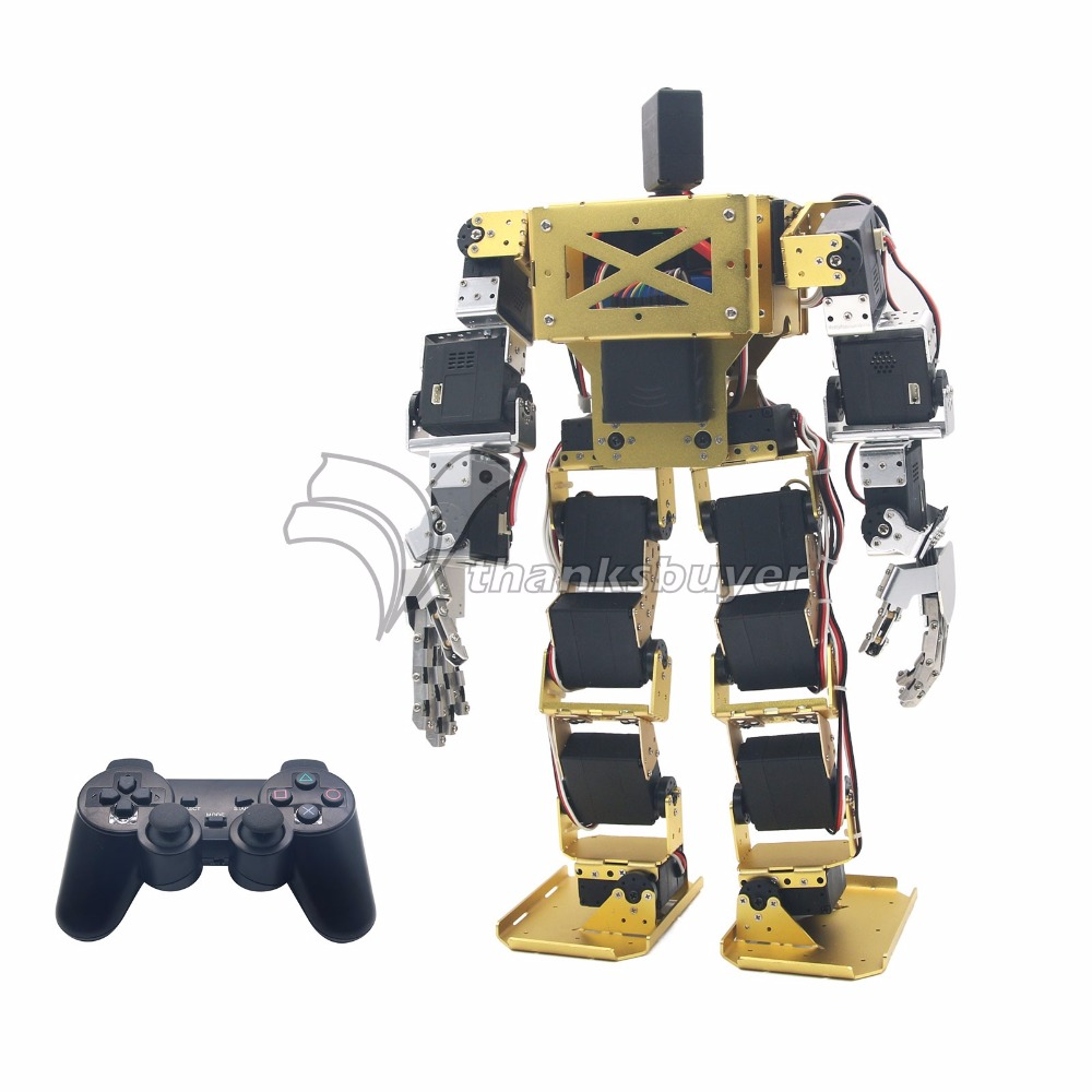 17DOF Biped Robot Humanoid Anthropomorphic Combat Battle Robot Height 38cm for DIY Robotics Assembled new 17 degrees of freedom humanoid robot saibov6 teaching and research biped robot platform model no electronic control system