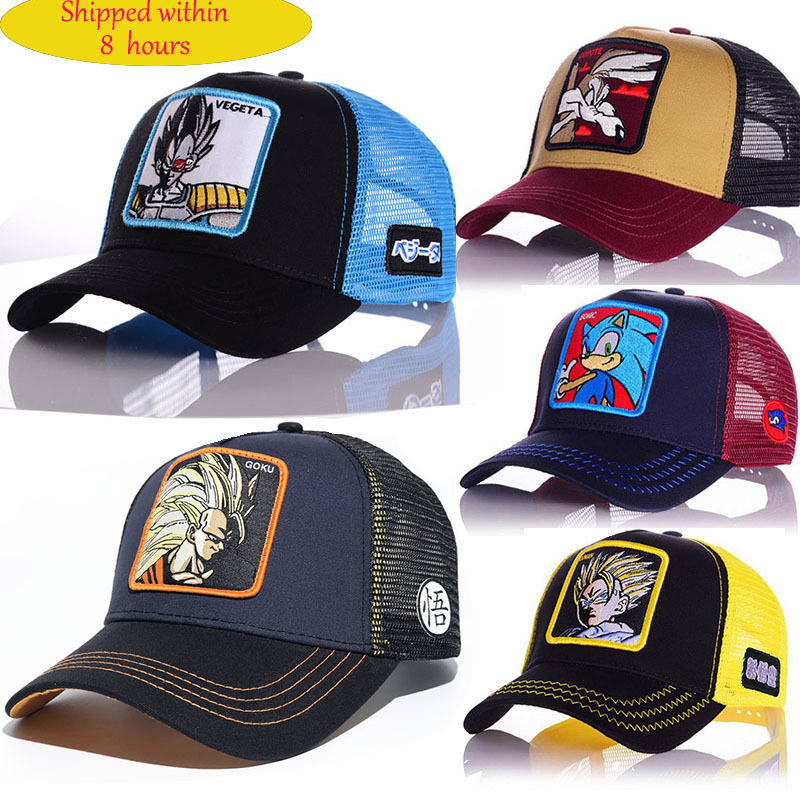Cartoon Anime Dragon Ball   Baseball     Caps   Men Women Hip Hop   Cap   Summer Breathable Mesh Trucker Hat High Qualit