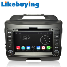 Likebuying Car 2 Din QUAD CORE 1024*600 16G Android 4.4.4 DVD GPS Radio Stereo Navi for Kia SPORTAGE 2010-2013