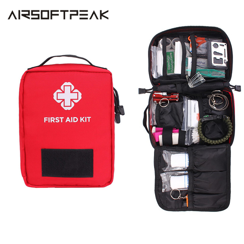 New Version First Aid Pouch Outdoor Survival Kit Medical Nylon Molle Bag Tactical Emergency Cover Hunting Travel Big Capacity