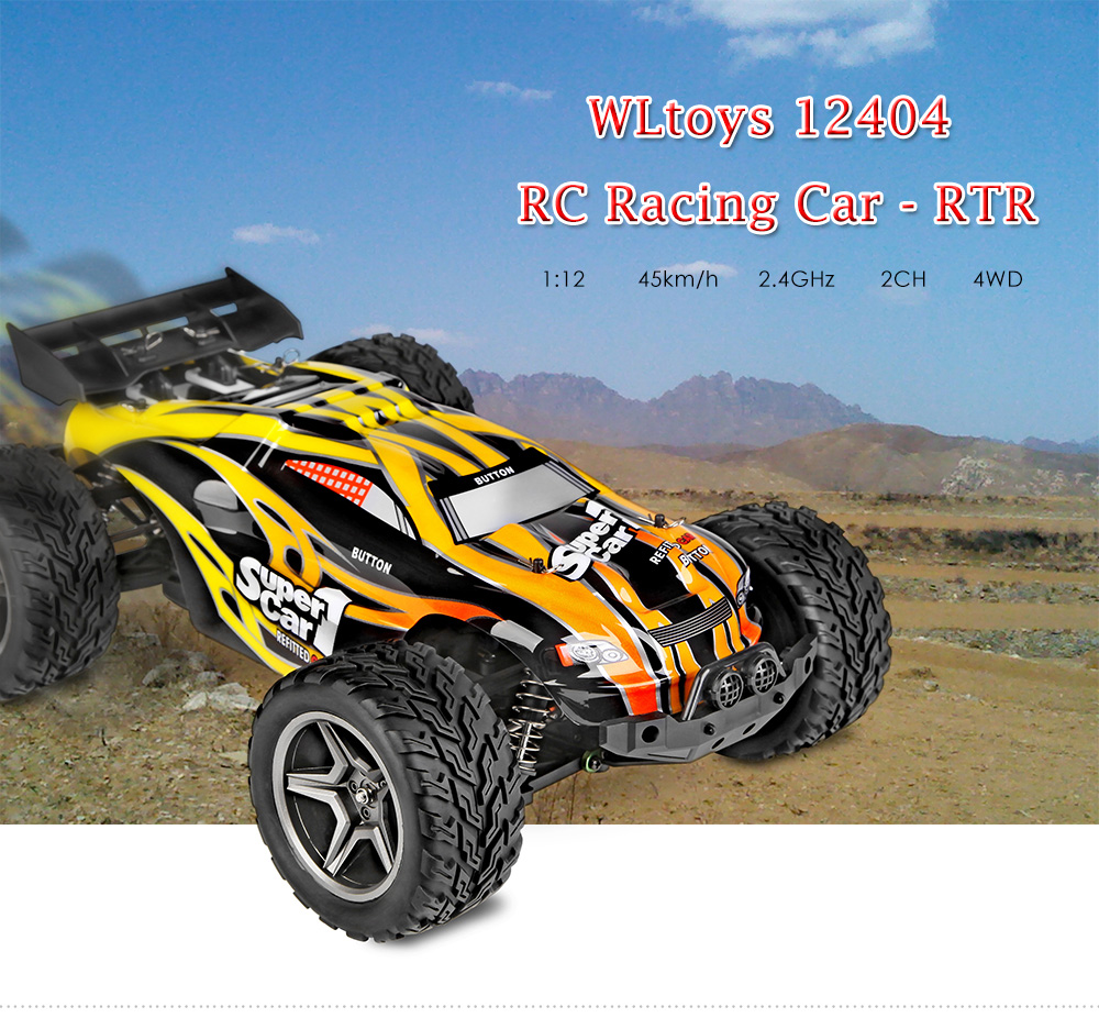 WLtoys 12404 RC Racing Car 45km/h 1:12 4WD RC Crawler 2.4GHz 2CH Splashproof Dustproof RC Drift Funny Outdoor Toys
