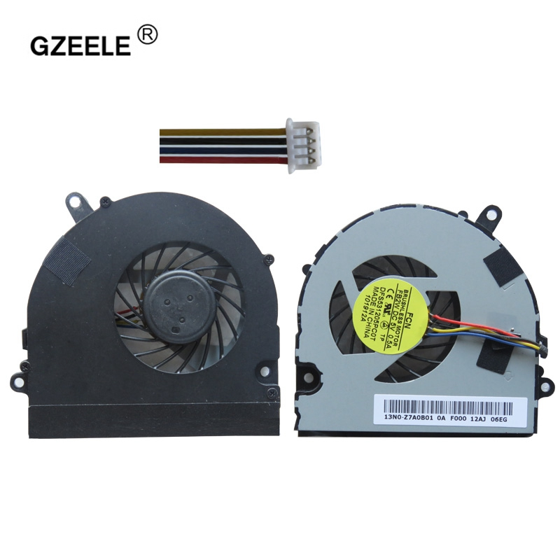 GZEELE LAPTOP CPU cooling fan for Asus U41 U41J U41JF U41SV Series laptop cpu fan DFS531005PL0T 4PINS KSB06105HB -AK78 4 wires 1pc used omron c200h bc051 v2 floor plc