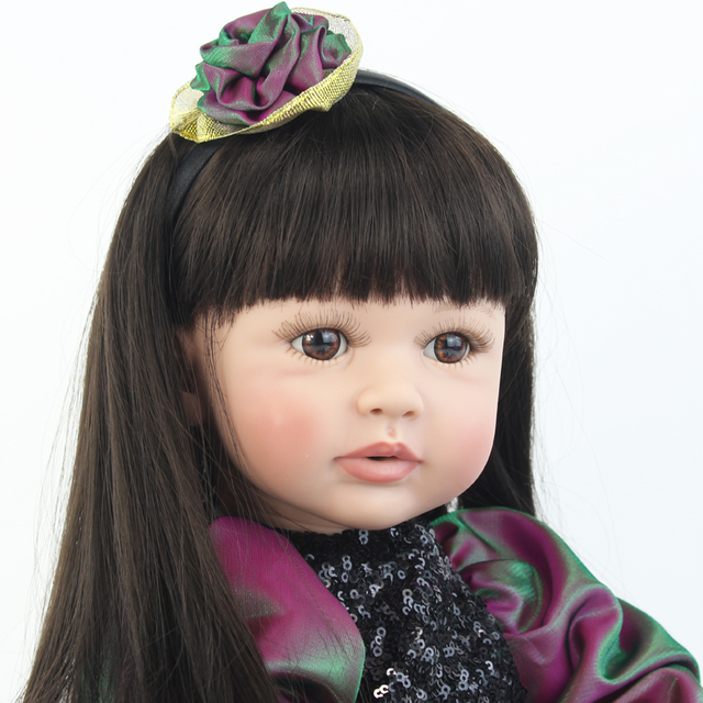 55cm Vinyl Silicone Reborn Baby Doll Toy Like Real Toddler Princess Alive Bebe Babies Doll Girl