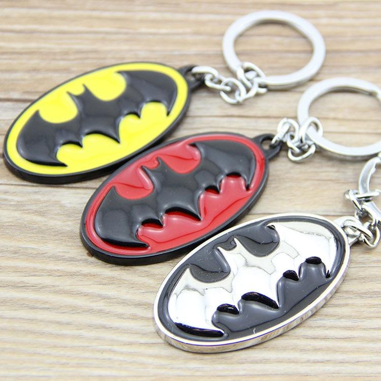 Classic Batman Logo Key Chains Zinc Alloy Keychains Pendant Key Rings Charm Keyrings Keyfobs For Boys Gift regalos para hombres