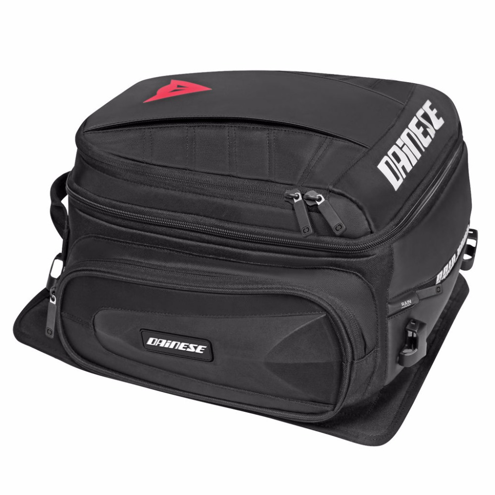 Motorcycle Dain Back Seat Bag Black Motorbike Waterproof Tail Travel Rider Luggage Rear Bag travel luggage bag tri glide button black 10 piece pack