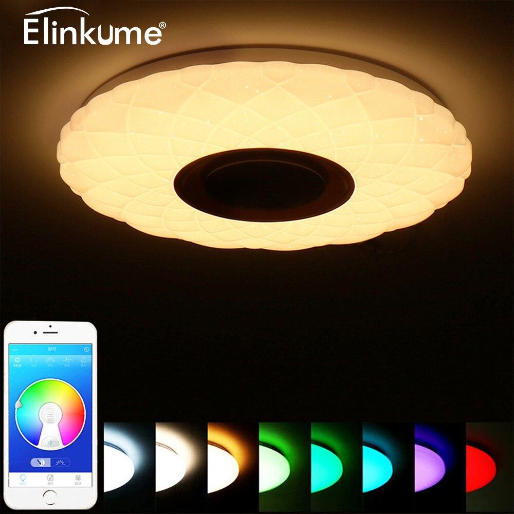LED musique plafonnier Bluetooth 36 W 85-265 V Dimmable plafonnier ciel étoilé 3D RGB maison fête lumière avec APP télécommande