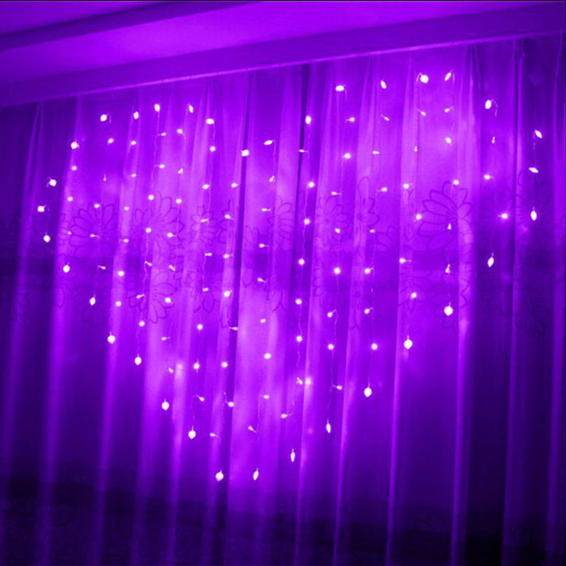 1.5x1.4m Heart Shape LED String Holiday Light Christmas Wedding Decoracao led icicle Curtain ...