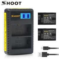SCHIEßEN 2 stücke LP E6 LP-E6 LP-E6N LPE6 Batterie mit LED Dual USB Ladegerät für Canon EOS 6D 7D 5DS 5DSR 5D Mark II 5D 60D 60Da 70D 80D