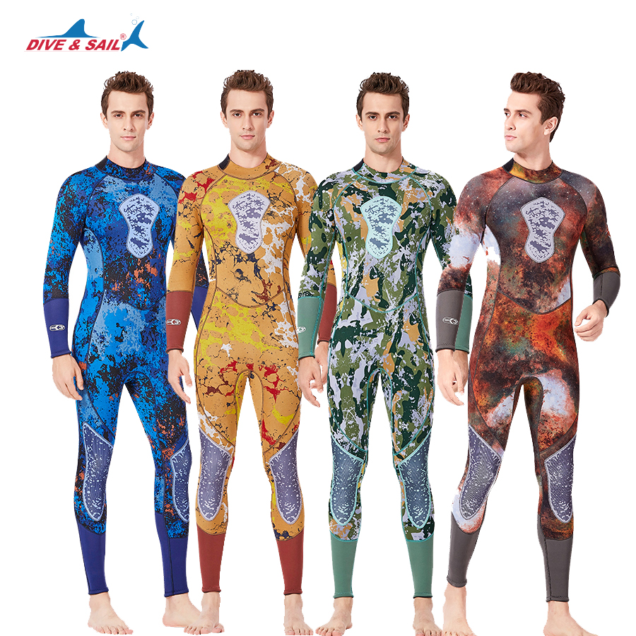 2019 new wetsuit 3MM neoprene diving wetsuit camouflage one piece WetSuits Full Body Diving wet suit